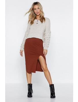 Tight Future Ribbed Skirt by Nasty Gal