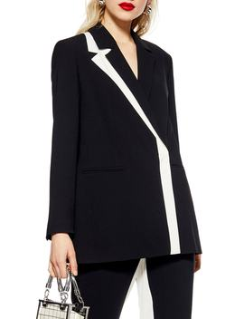 Colorblock Blazer by Topshop