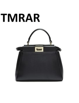 2018 New Design 3 Sizes Classic Tote Peekaboo Women Split Leather Handbags Lady Bag Shoulder Bags For Female Bolsas Qn059 by Tmrar