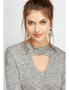 24/7 Strappy Neck Solid Tee by Maurices