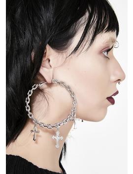 Unholy Vow Hoop Earrings by Ciel