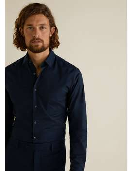 Camisa Tailored Super Slim Fit De Algodão by Mango