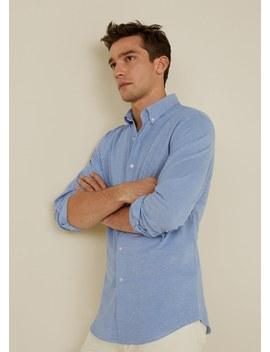 Camisa Slim Fit Algodão Piqué by Mango