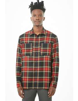 Fitted Plaid Shirt by Forever 21