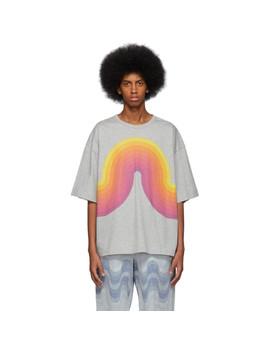 T Shirt Surdimensionné Gris Hoky édition Verner Panton by Dries Van Noten