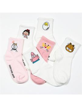2018 High Quality Cute Elegant Lovely Kawaii Cartoon Sweet Harajuku Cotton Women Socks Animals Character Casual Short Socks Hot by Ali Express