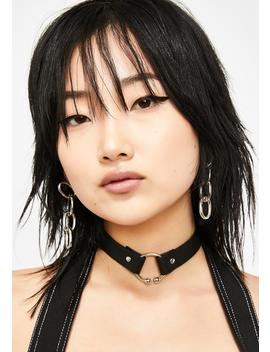 Rise And Fall Barbell Choker by Ciel