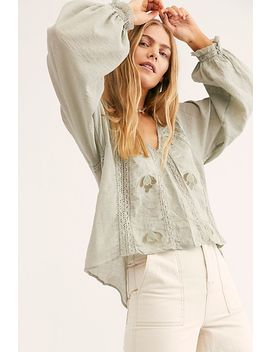 Sivan Embroidered Blouse by Free People