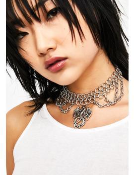 Fantasy Adventure Dragon Necklace by Ciel