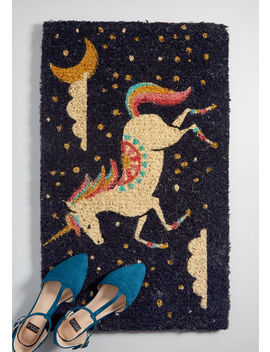 Prance On Over Unicorn Doormat by Modcloth