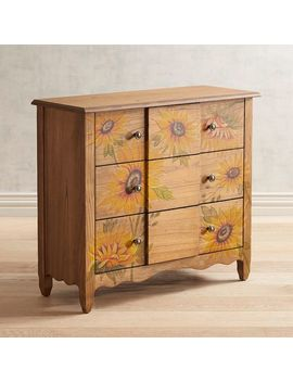 Ava Hand Painted Sunflower Cabinet by Pier1 Imports