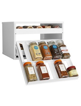 You Copia Chef's Edition Spice Stack 30 Bottle Spice Organizer With Universal Drawers, White by You Copia