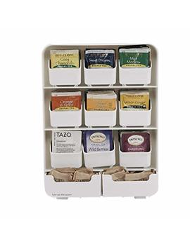 Mind Reader 9 Removable Drawers Tea Bag Holder And Condiment Organizer, White by Mind Reader