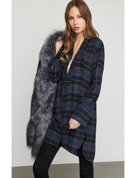 Plaid Tunic Shirt by Bcbgmaxazria
