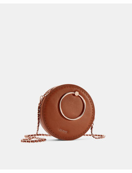 Stab Stitch Circle Leather Bag by Ted Baker