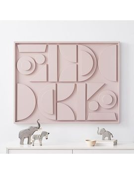 Pictograph Wall Art   Lacquer by West Elm