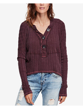 In The Mix Ribbed Henley Top by Free People