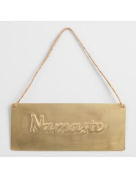 Gold Metal Namaste Sign by World Market