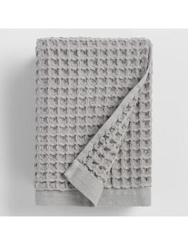 Gray Waffle Weave Cotton Hand Towel by World Market