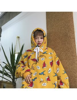 Fashion Womens Hoodies Autumn Korean Style Clothing Ulzzang Harajuku Kawaii Cartoon Printed Sweatshirts For Women Hoodie Tops by You Ge Man