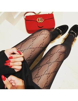 Gg Inspired Print Monogram Logo Designer Pattern Tights Pantyhose by Etsy