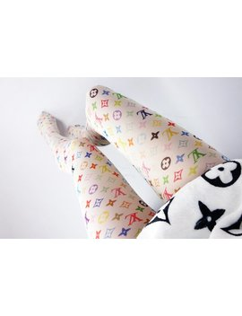 Designer Inspired Lv Custom Monogram Tights Pantyhose Leggings S M L by Etsy