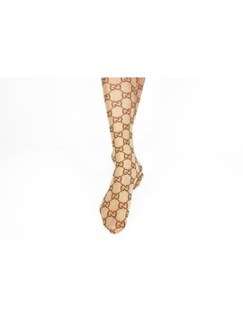 Designer Inspired Gucci Custom Monogram Tights Pantyhose Leggings S M Gg Gift For Her Socks Stockings by Etsy