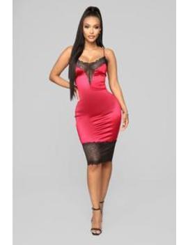 Loving My Curves Slip Dress   Red by Fashion Nova