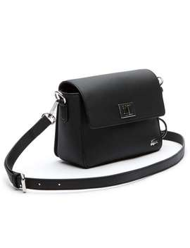 Daily Classic Coated Piqué Canvas Flap Shoulder B by Lacoste