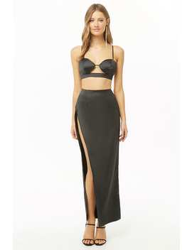 Cropped Cutout Cami & Maxi Skirt Set by Forever 21