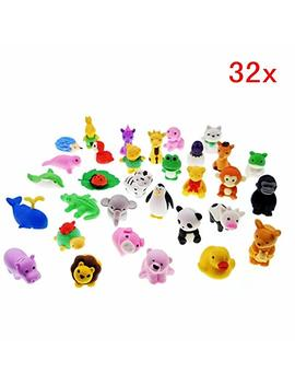 Jzk 32 Detachable Little Rubber Animal Toy Mini Animal Rubber Pencil Eraser Set For Children Party Favours Birthday Party Bag Fillers Birthday Gift Christmas Gift by Jzk