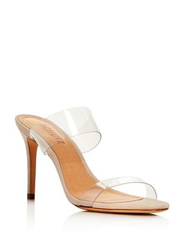 Women's Ariella Clear Strap High Heel Slide Sandals by Schutz