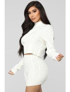Spring Street Sweater Set   White by Fashion Nova