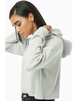 Ribbed Hooded Crop Top by Forever 21