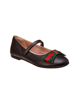 Gucci Leather Ballerina Flat by Gucci