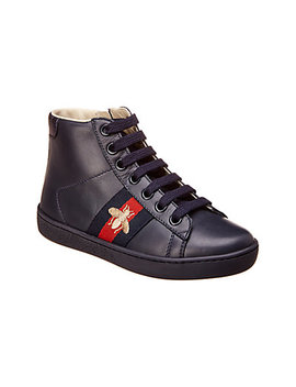 Gucci Ace Leather High Top Sneaker by Gucci