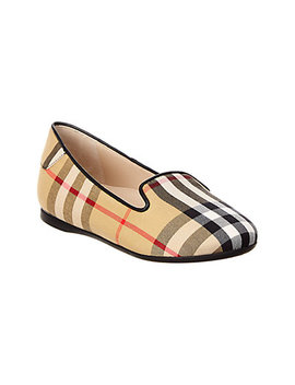 Burberry Vintage Check Leather Flat by Burberry