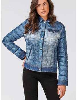 Denim Look Puffer Jacket by Guess