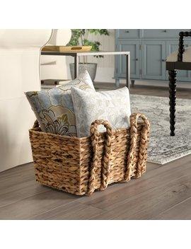 Birch Lane™ Heritage Lina Rectangular Floor Basket & Reviews by Birch Lane™ Heritage