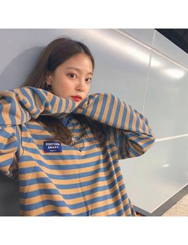 You Ge Man Fashion Hoodie Woman Autumn Clothing Korean Ulzzang Harajuku Striped Long Sleeve Sweatshirts Hoodies Female Casual Tops by You Ge Man