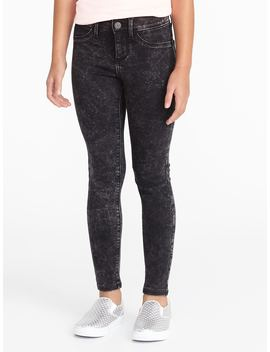 Acid Wash Ballerina Jeggings For Girls by Old Navy