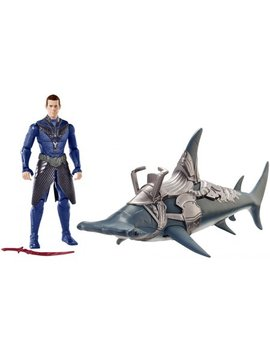 Aquaman 6 Inch Vulko Figure & Hammerhead Shark 2 Pack by Aquaman