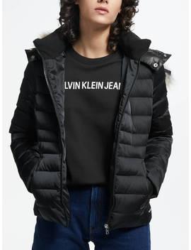 Calvin Klein Mid Weight Down Jacket, Black by Calvin Klein