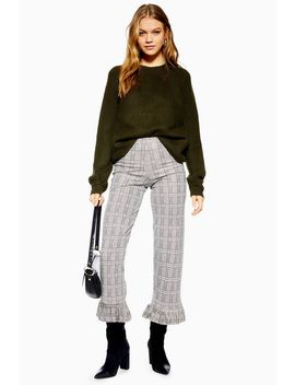 Frill Hem Trousers by Topshop