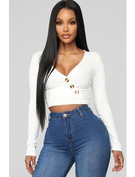 Love Spell Surplice Top   White by Fashion Nova