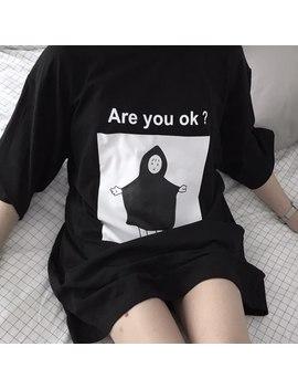 You Ge Man 2018 Spring Summer Fashion Tee Shirt Korean Ulzzang Harajuku Character Printed Short Sleeve T Shirt Women Tshirt Top by You Ge Man