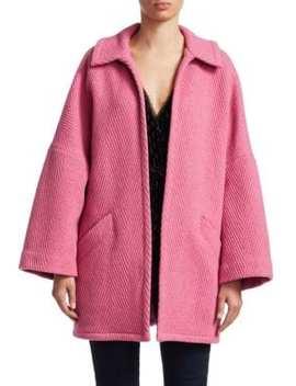 Husk Open Front Chevron Wool Coat by Rachel Comey