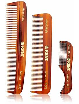 Kent Handmade Combs For Men Set Of 3   81 T, Fot And R7 T   For Hair, Beard, And Mustache Care Kit, Best For... by Kent