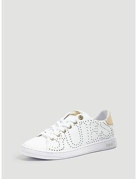Carterr Real Leather Sneaker by Guess
