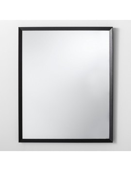 "Bevel Profile Wall Mirror Black 27"" X 33""    Made By Design™ by Made By Design"